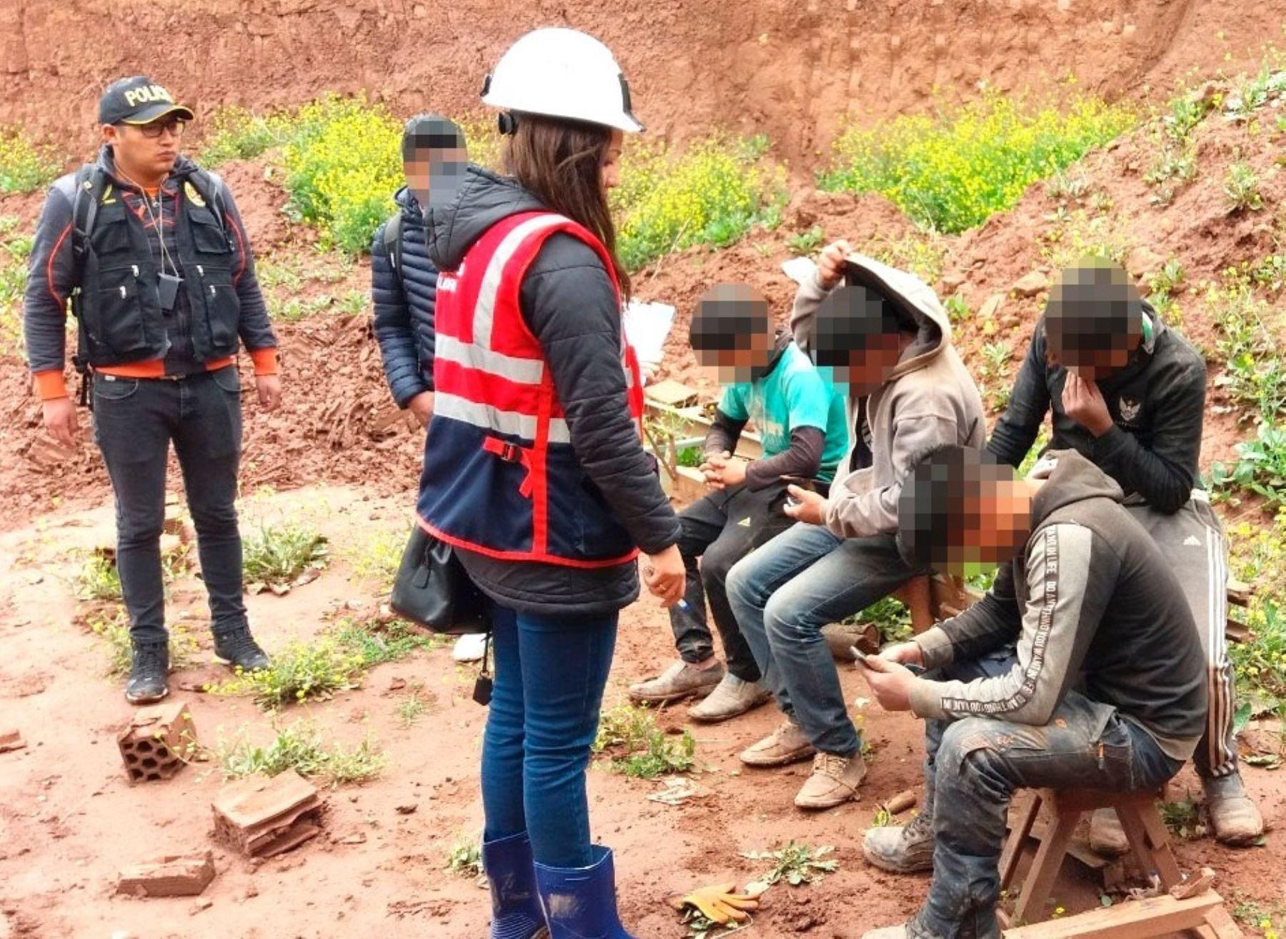 Sunafil en trabajo de erradicación del trabajo infantil. Foto: Cortesía