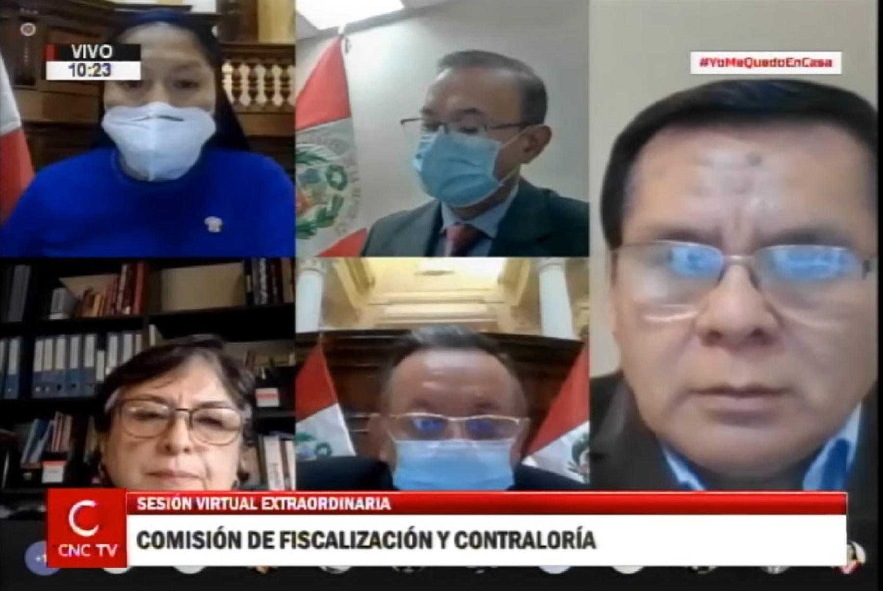 Comisión de Fiscalización del Congreso.