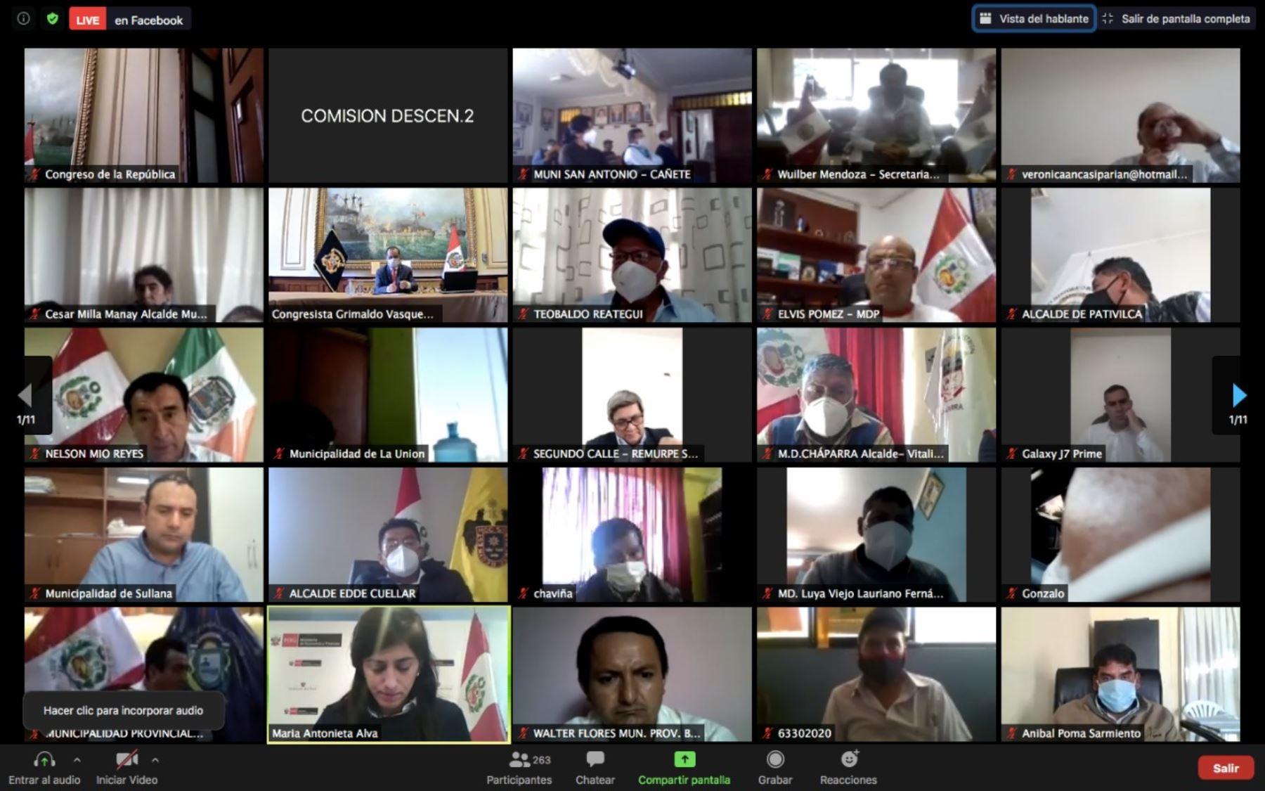 Congreso: Comisión de Descentralización logró que 51 dictámenes se conviertan en ley