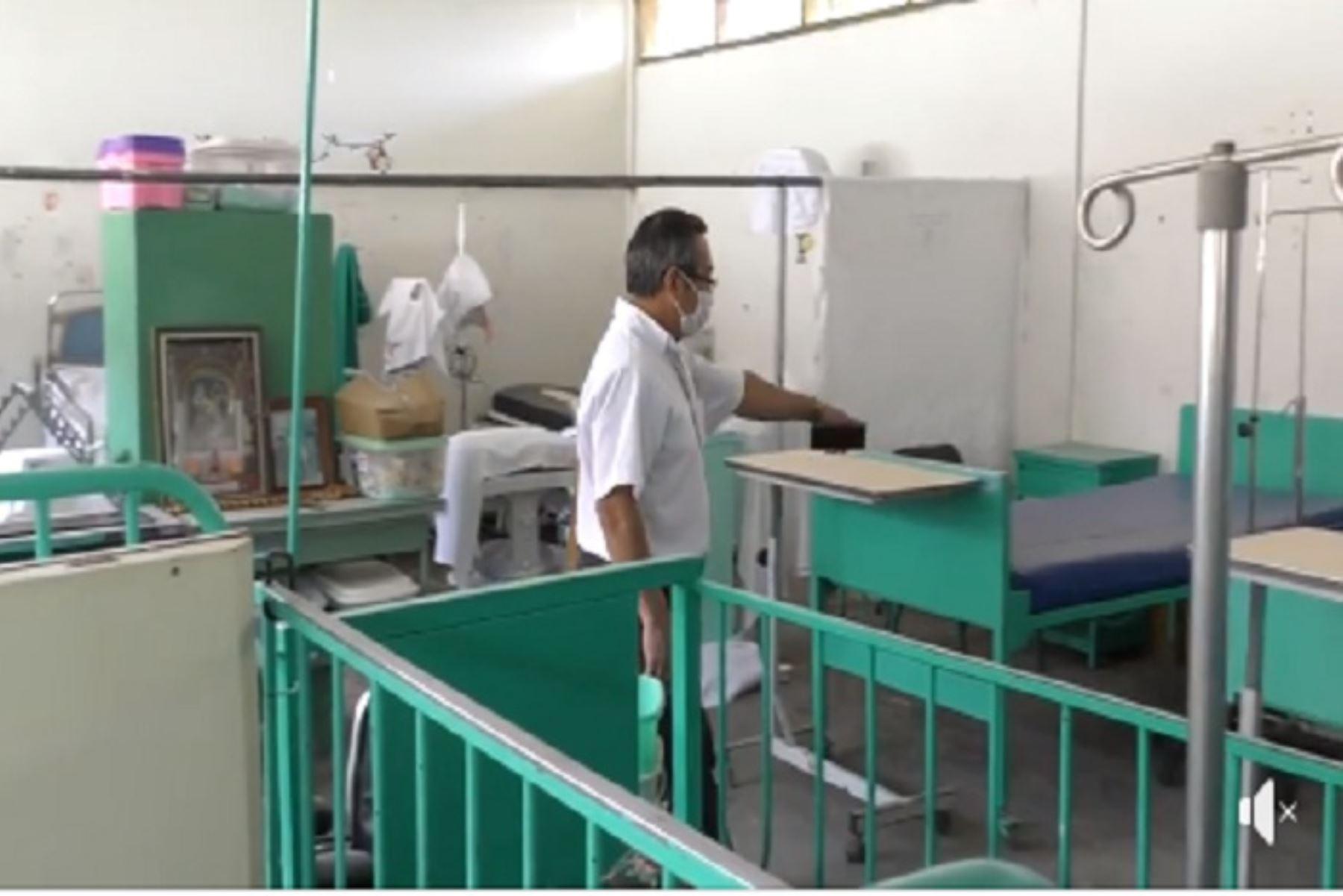 Los avances de la obra, a nivel general, están en un 59%, explicó el director del Hospital Santa Rosa, Mario Paredes,  a la comitiva.