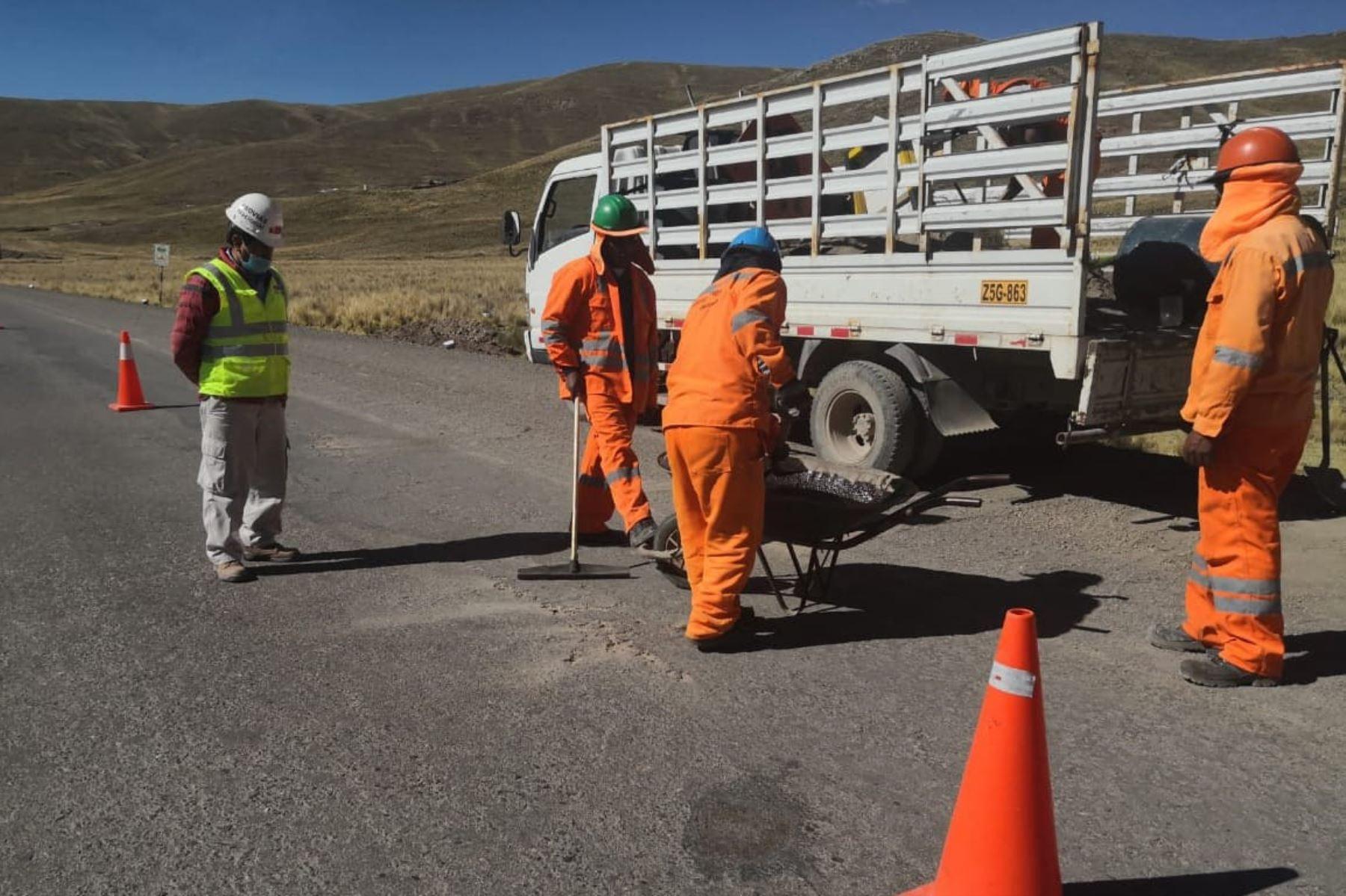 MTC destaca el reinicio de los trabajos en la carretera Checca-Masocruz, en Puno. ANDINA/Difusión