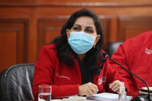 Ministra de la Mujer y Poblaciones Vulnerables, Gloria Montenegro. ANDINA/Difusión