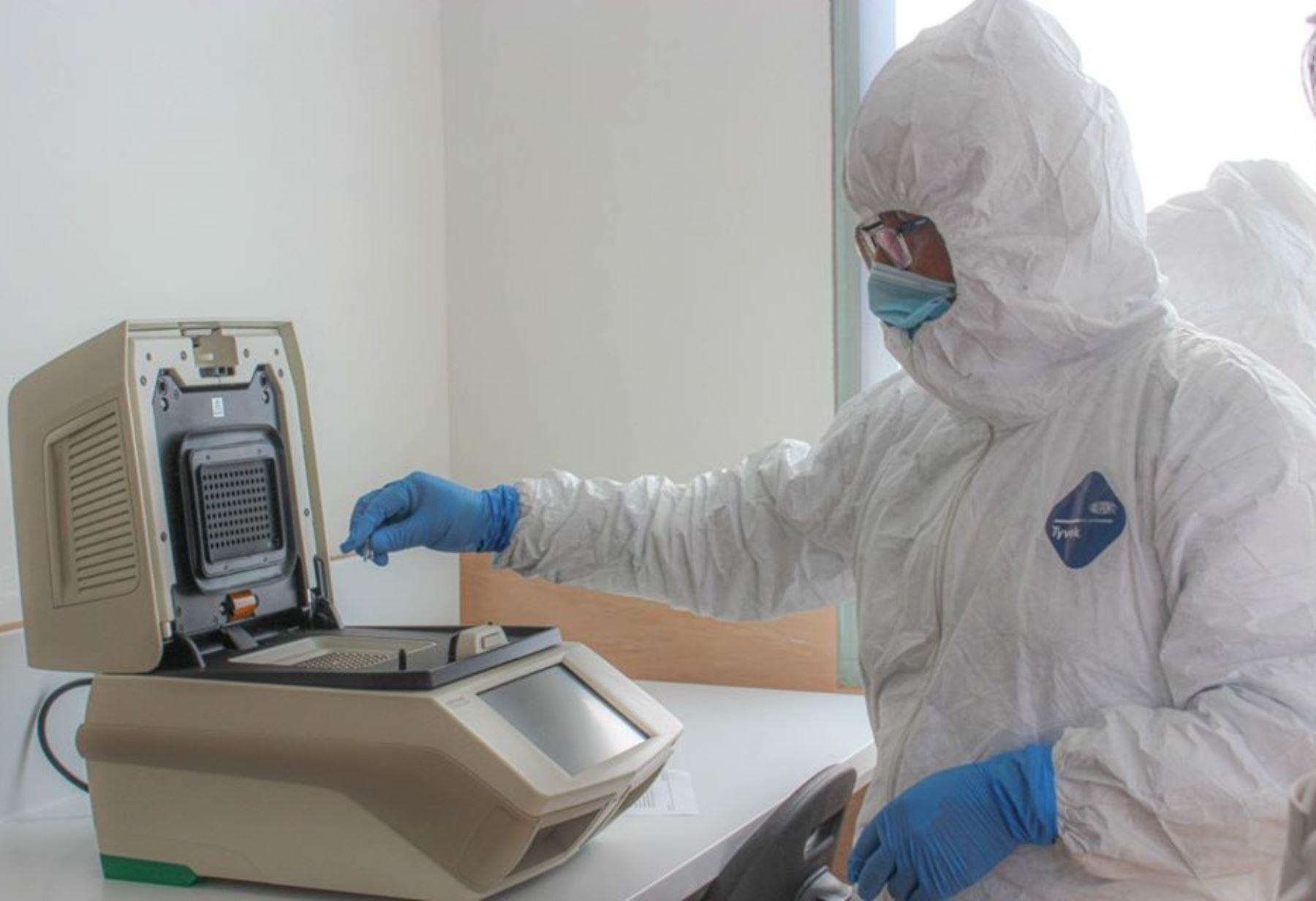 Puno pone en funcionamiento su laboratorio de biología molecular con las 5,000 pruebas moleculares enviadas por el Ministerio de Salud. ANDINA/Difusión