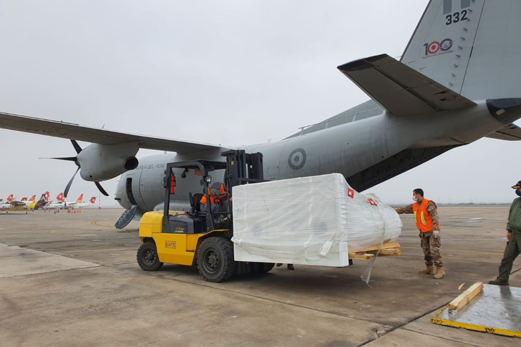 El aeropuerto de Tarapoto recibió vuelos que trasladaron a personas, equipos médicos y otros insumos en la lucha contra el coronavirus. ANDINA/Difusión