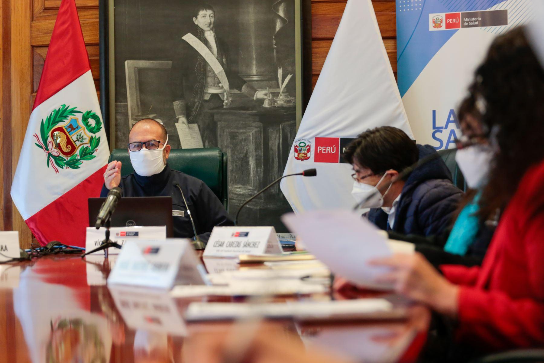 El Ministerio de Salud (Minsa) instaló el grupo de trabajo multisectorial que se encargará de gestionar financiamiento para la adquisición de la vacuna contra el covid-19. ANDINA/Minsa