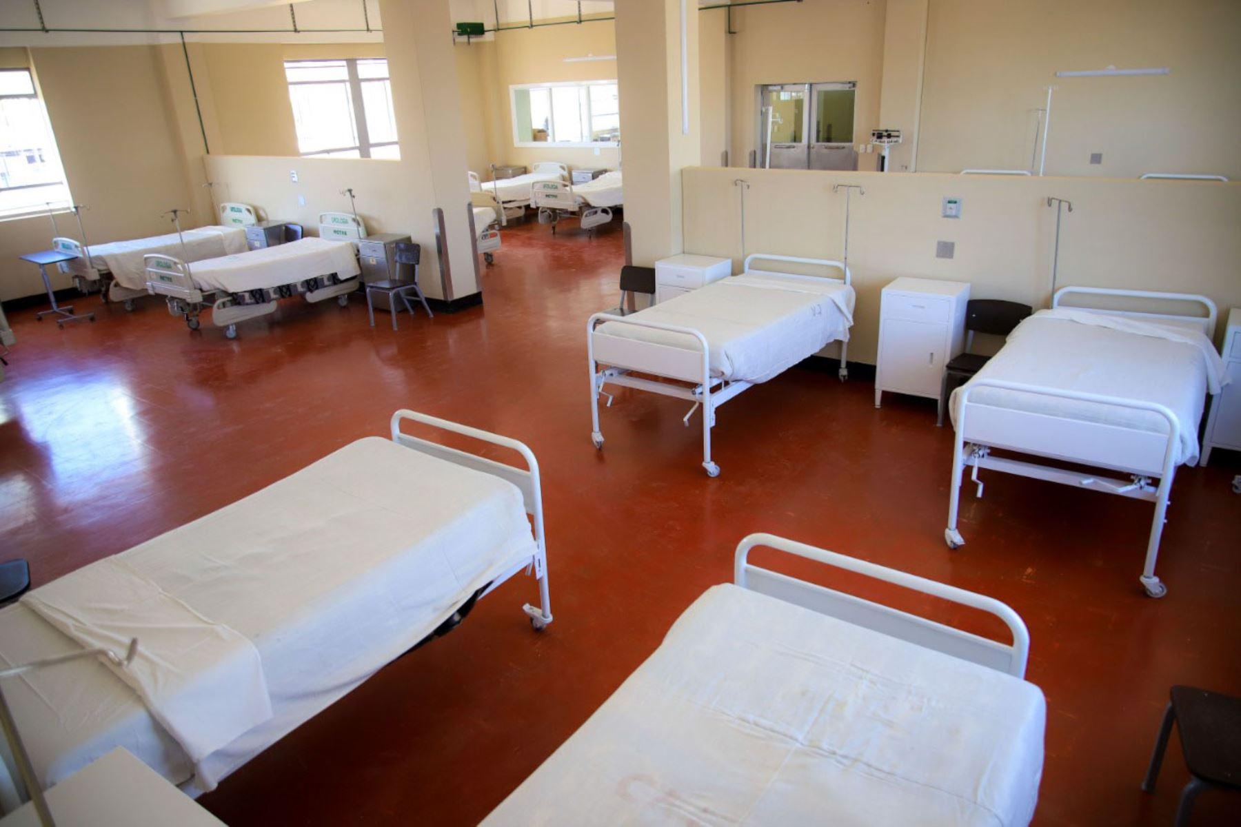 Habilitan más camas en el hospital covid-19 de Arequipa para la atención de pacientes moderados. Foto: Gobierno Regional de Arequipa