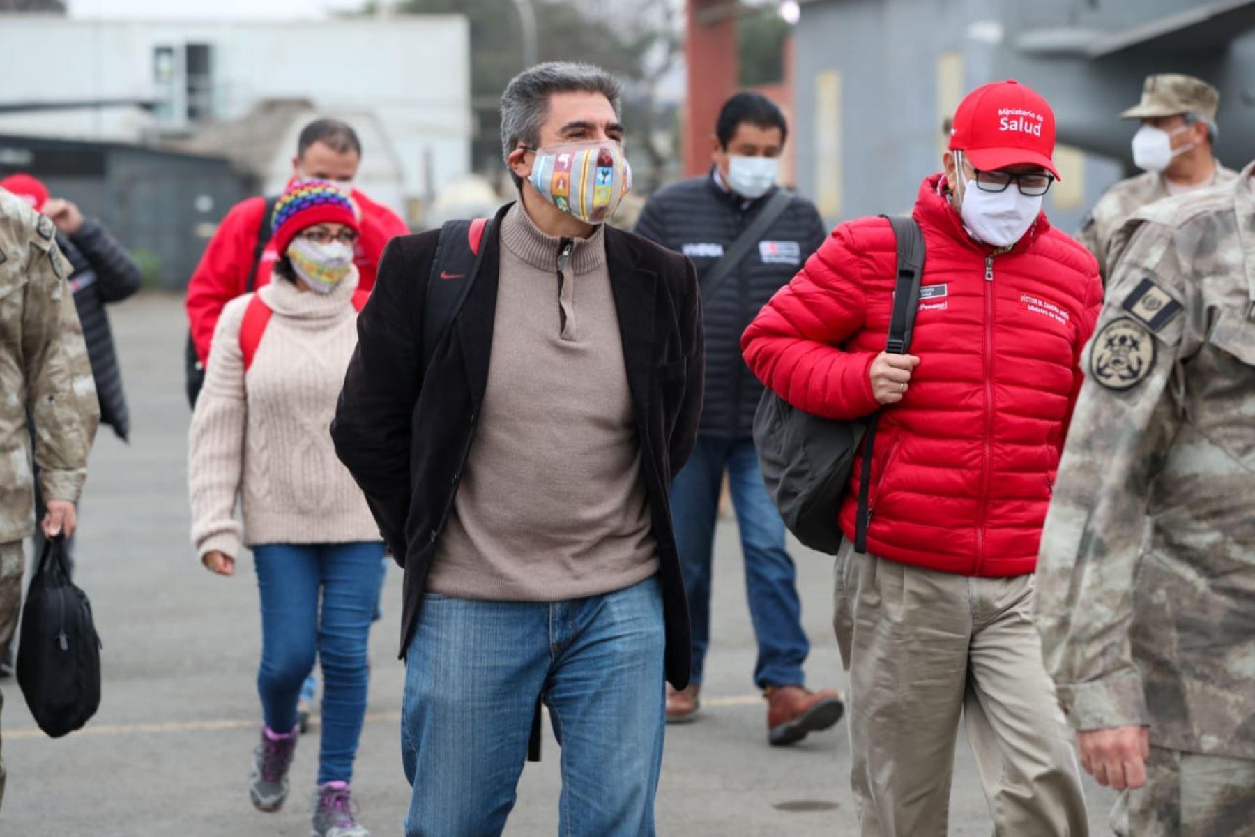 Jefe de Gabinete y ministros de Estado viajan a Ayacucho para reforzar acciones frente a la pandemia por Covid-19. Alejandro Neyra, ministro de Cultura, forma parte de la comitiva. Foto: ANDINA/PCM