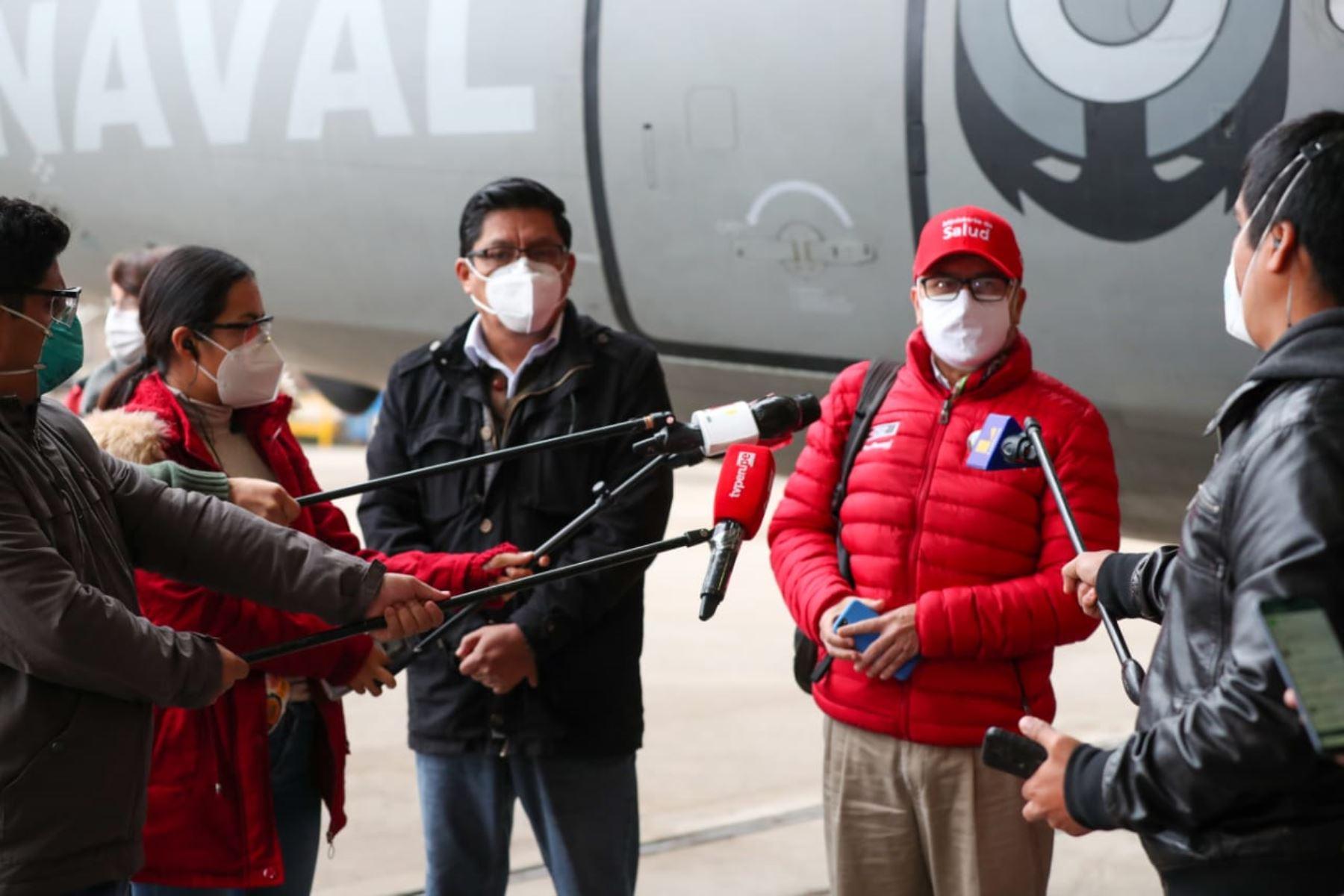 Jefe de Gabinete y ministros de Estado viajan a Ayacucho para reforzar acciones frente a la pandemia por Covid-19. Foto: ANDINA/PCM