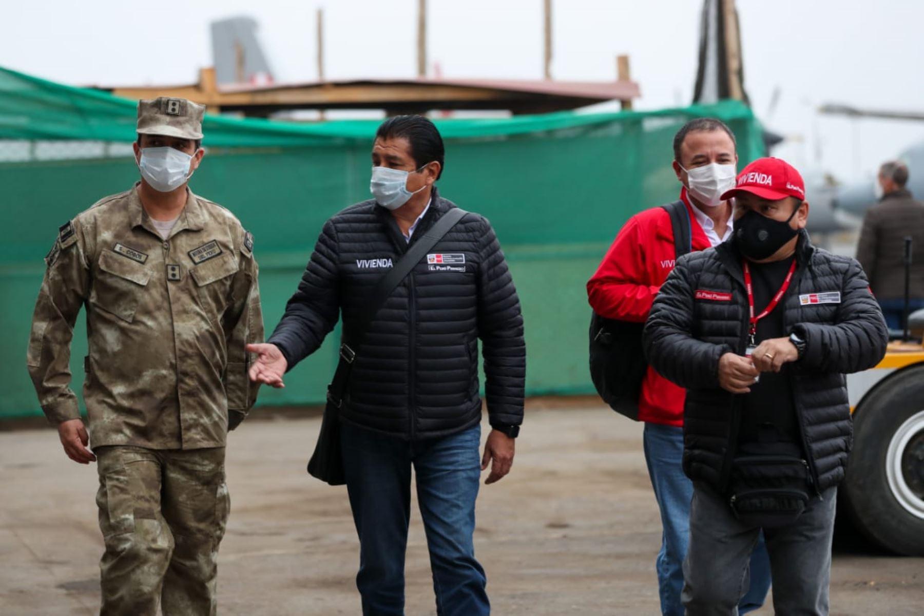 Jefe de Gabinete y ministros de Estado viajan a Ayacucho para reforzar acciones frente a la pandemia por Covid-19. Ministro de Vivienda, Rodolfo Yáñez, forma parte de la comitiva. Foto: ANDINA/PCM