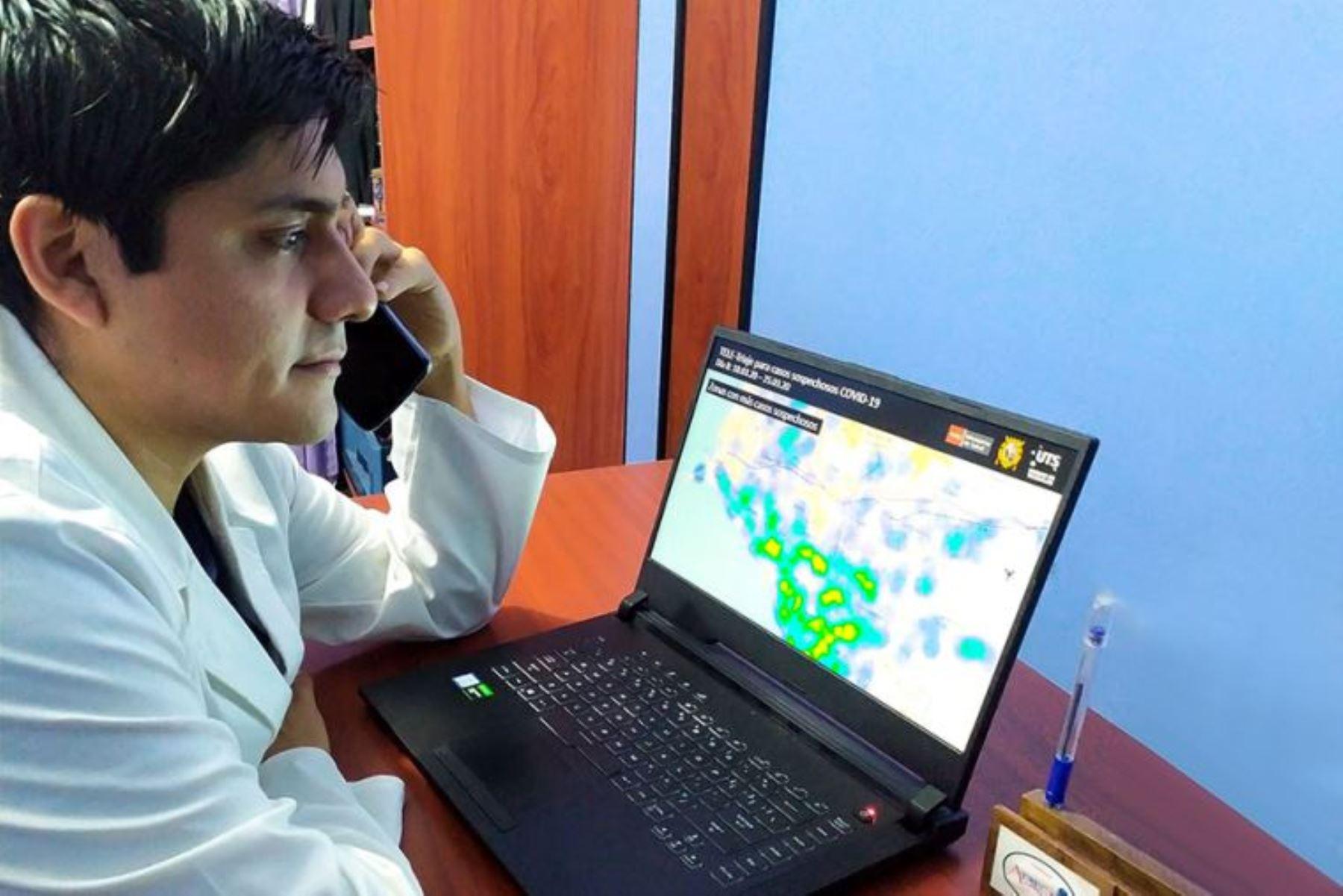 Coronavirus: estudiantes de ciencias de la salud de San Marccos harán monitoreo virtual. Foto: ANDINA/Difusión.