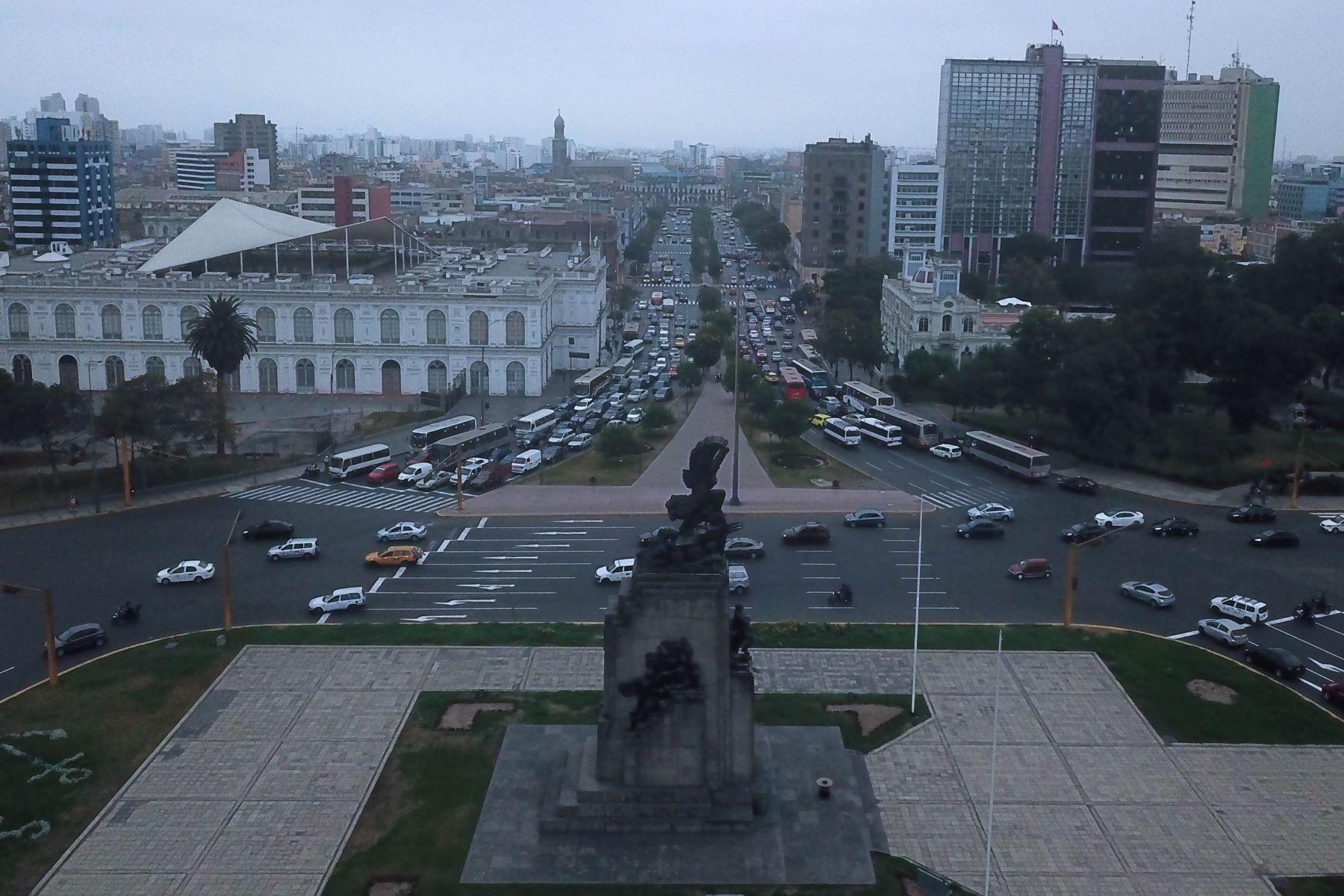 Óvalo Grau y Vía Expresa al termino de la cuarentena. Foto: ANDINA/ Juan Carlos Guzmán