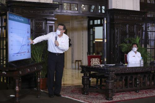 Presidente Vizcarra informa sobre las medidas adoptadas durante emergencia