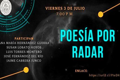 Afiche de recital de poesía virtual.