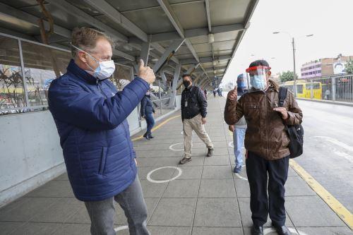 Coronavirus: Alcalde de Lima supervisó Estación Naranjal durante primer día tras levantarse la cuarentena en la ciudad