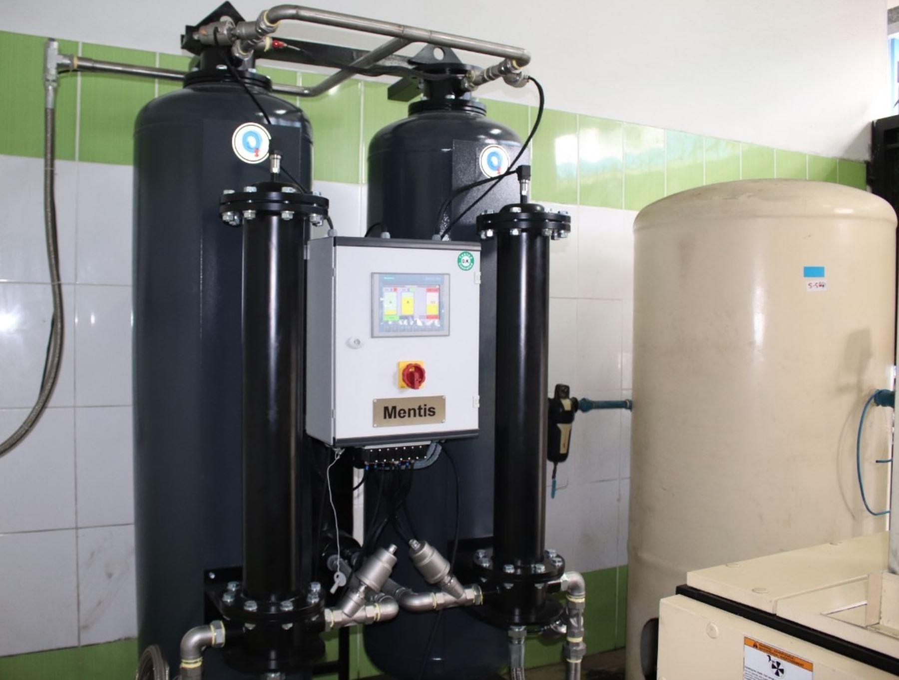 Nueva planta de oxígeno abastece a pacientes con covid-19 del hospital Carrión del Callao. Foto: Gobierno regional del Callao