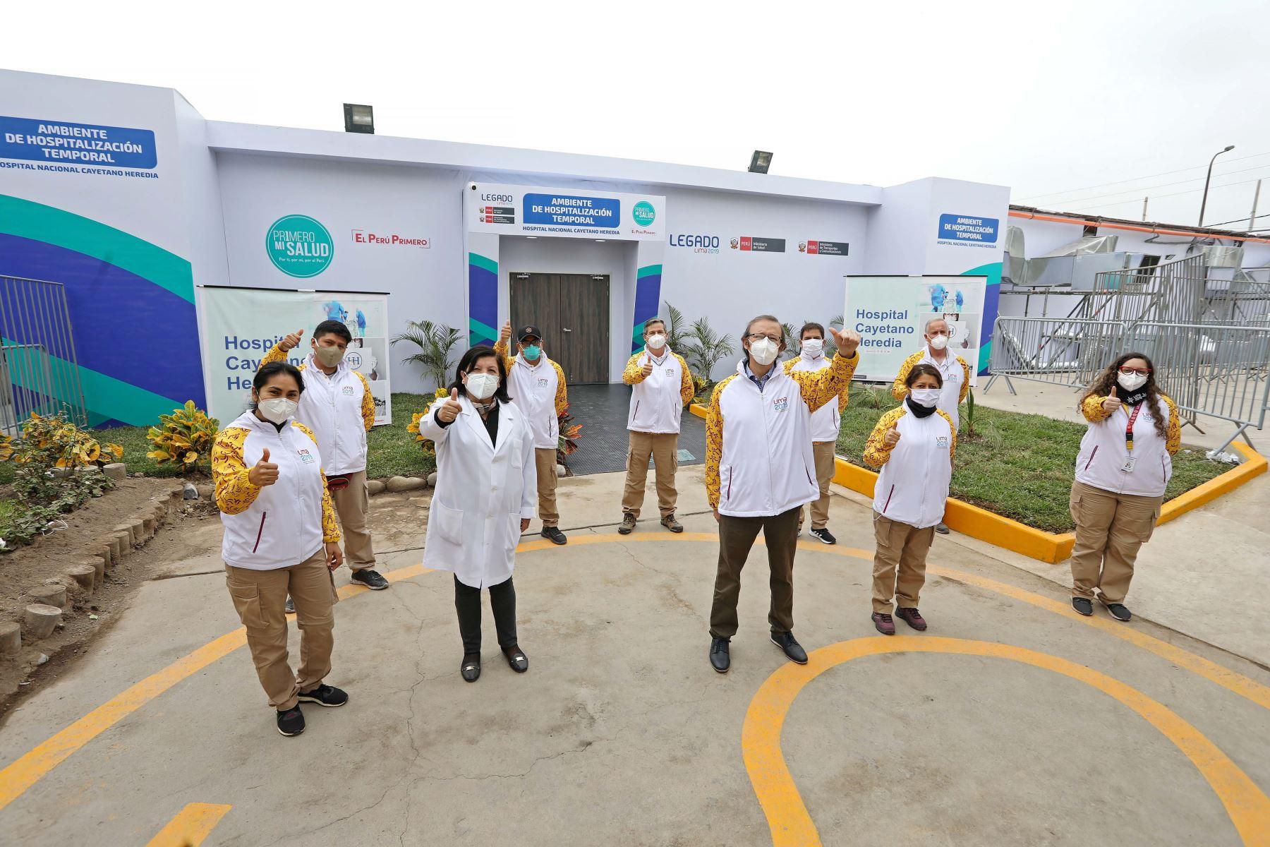 Este centro de atención se ha construido con infraestructura temporal en el interior del hospital Cayetano Heredia, ubicado en el distrito de San Martín de Porres. ANDINA/Legado Lima 2019