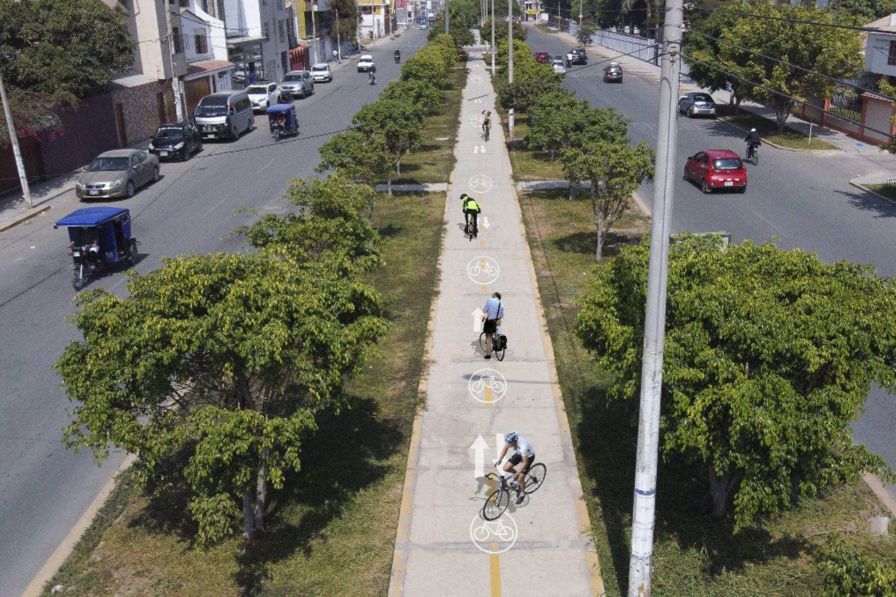 Se proyecta que la provincia de Chiclayo cuente con 11,300 metros de ciclovías tras declarar de interés municipal el uso de la bicicleta como medio de transporte sostenible. Foto: ANDINA/Difusión