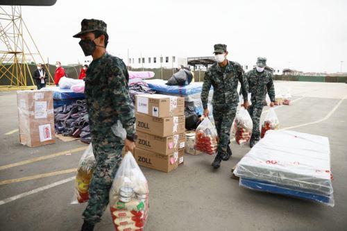 Coronavirus: Ministerio de Vivienda traslada cargamento de dos toneladas de ayuda humanitaria y alimentos a la región Puno