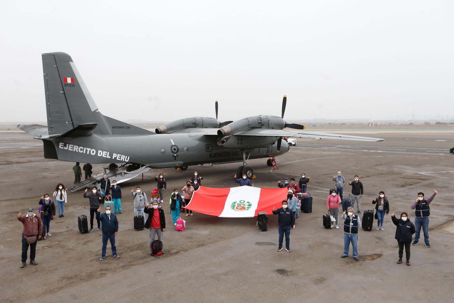 La brigada conformada por médicos, enfermeras, odontólogos y biólogos, fortalecerá la atención de salud en la provincia de Jaén, en Cajamarca.  ANDINA/Difusión