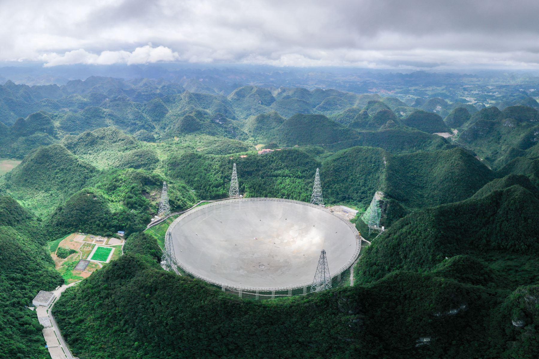 El estudio de la detección de hidrógeno neutral extragaláctico es uno de los objetivos científicos más importantes del telescopio gigante. Foto: Xinhua
