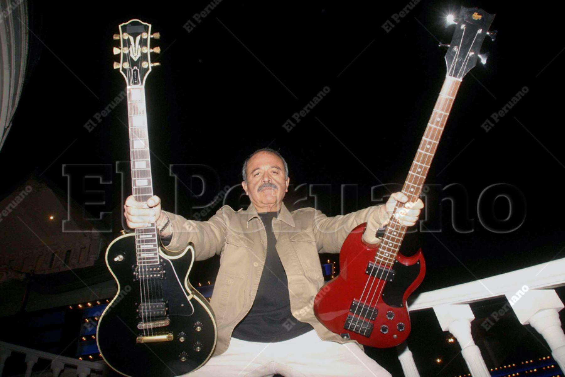 Lima - 8 setiembre 2006 / Gerardo Manuel, el gran rockero peruano, celebrara sus 60 años. Foto:ANDINA/Archivo