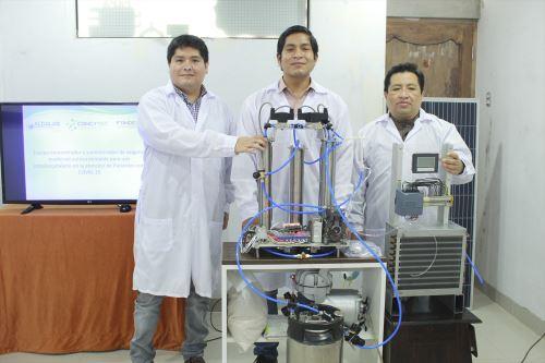 Investigadores peruanos están desarrollando un equipo concentrador y suministrador de oxígeno medicinal autosustentable.