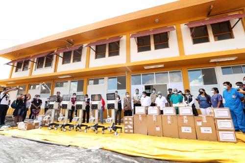 Coronavirus: PCM supervisó nuevos ambientes del hospital Santa Rosa  de Puerto Maldonado y entregó respiradores, ventiladores, pruebas rápidas e insumos médicos contra el covid-19