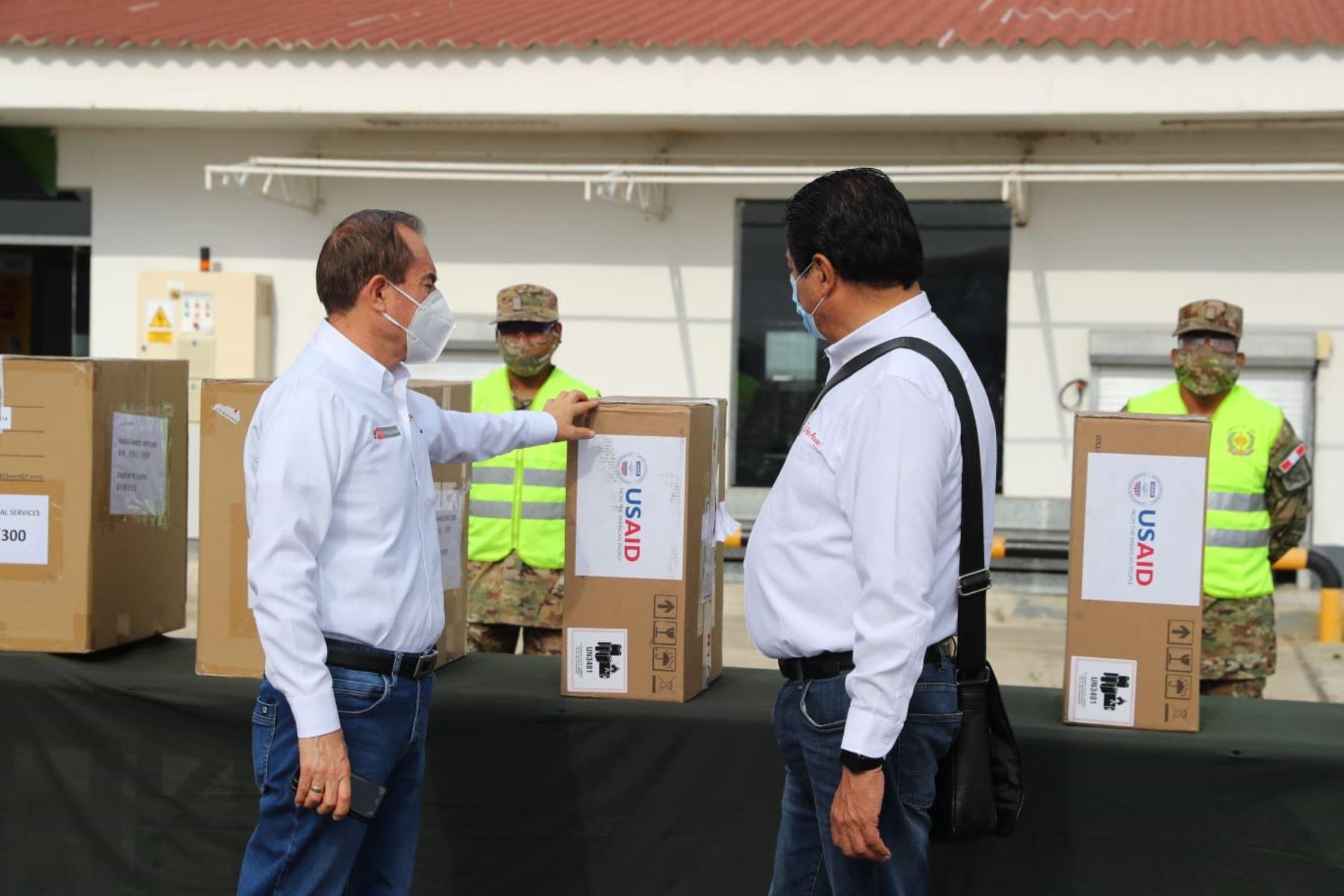 Ventiladores mecánicos para pacientes con covid-19 en cuatro regiones del norte del país. Foto: ANDINA/ Prensa
