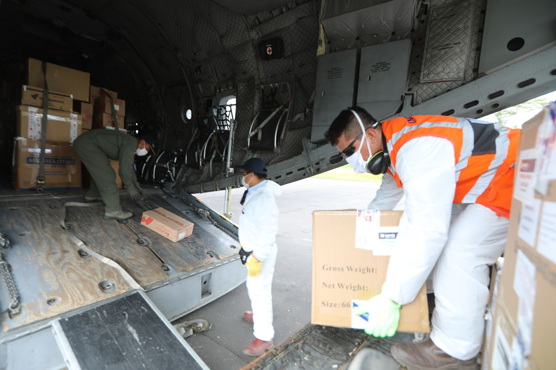 El cargamento de 1,113 kilos constó de un total de 26,350 unidades de equipos de protección personal. Foto: Difusión/Archivo
