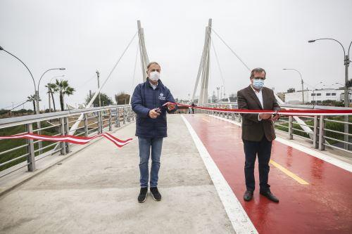 Miraflores: Inauguran nuevo Puente de la Amistad que favorecerá interconexión entre distritos