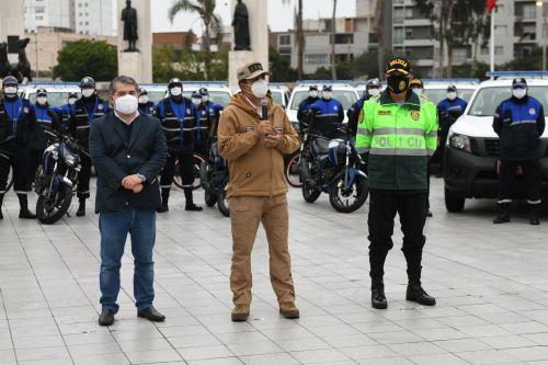 Coronavirus: Entrega de nuevos vehículos y modernos equipos de comunicación destinados a mejorar el servicio de patrullaje y fortalecer la seguridad ciudadana en Jesús María