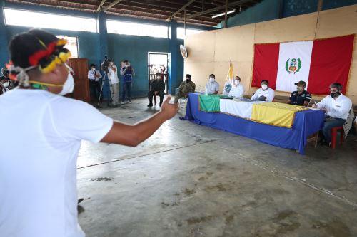 Coronavirus: Presidente del Consejo Ministros  llega a Andoas y se reúne con líderes amazónicos, además  supervisan campaña Acción Cívica que prioriza acciones para hacer frente al covid-19