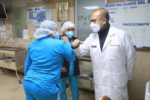 Coronavirus: Ministro de Salud realiza visita inopinada al Instituto Nacional de Enfermedades Neoplásicas