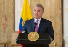 Presidente Iván Duque confirmó la presencia de la variante delta en su país. Foto:EFE