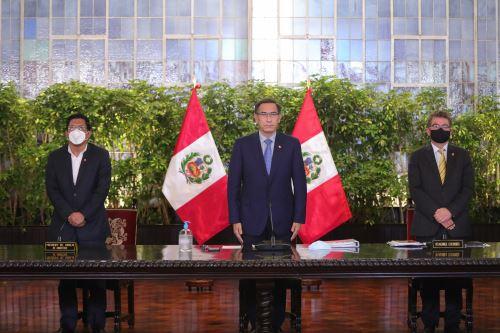 Presidente Vizcarra brinda pronunciamiento