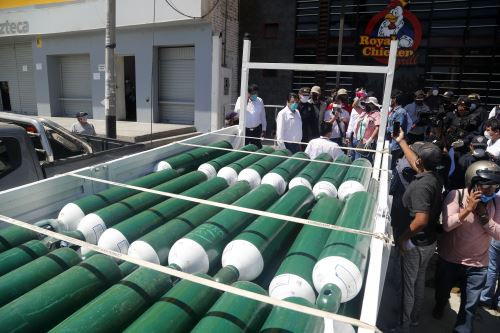 Para cerrar la brecha el Minsa ha comprado de 4,470 cilindros de oxígeno. ANDINA/Minsa