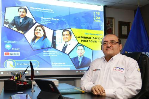 Director ejecutivo de Cofopri, César Figueredo Muñoz. Foto: Cortesía.