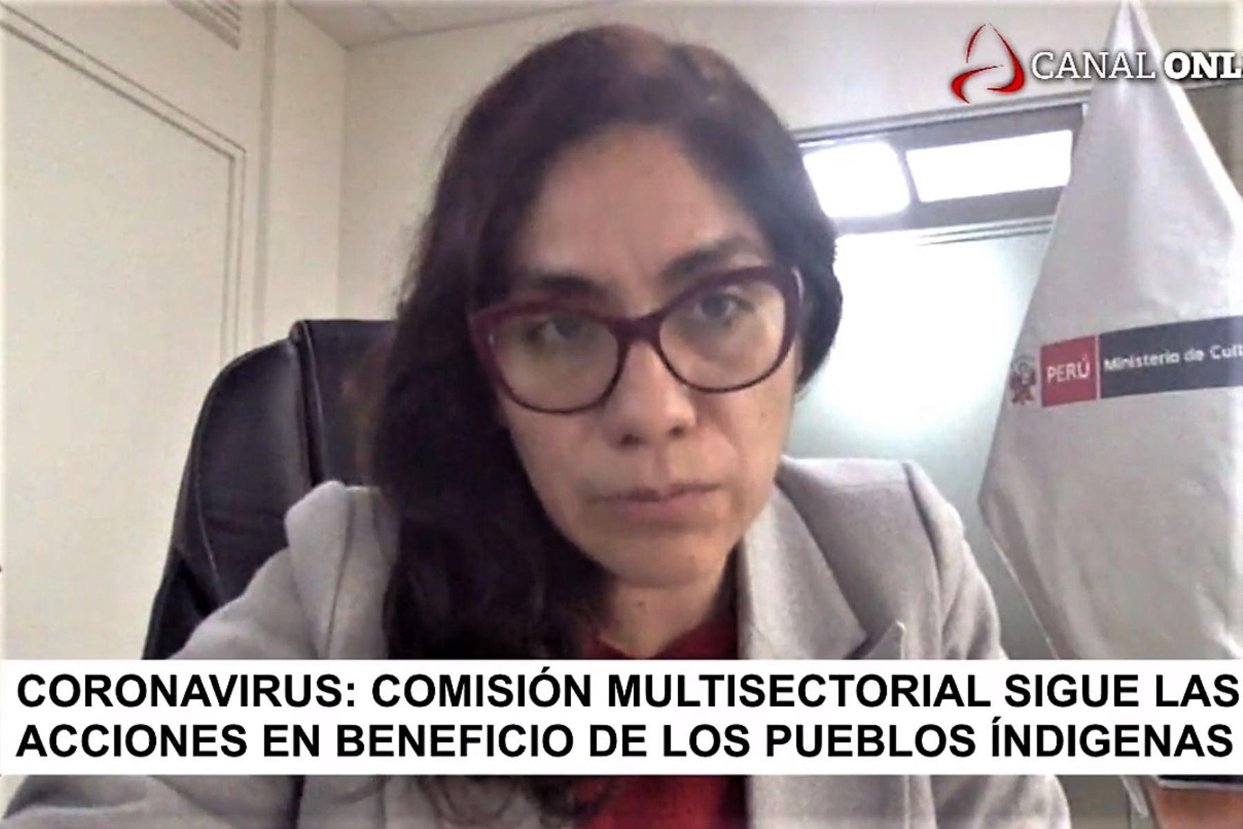 Viceministra de Interculturalidad, Ángela Acevedo.