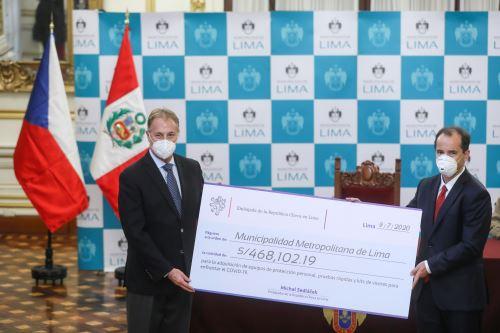 Municipalidad de Lima y Embajada de República Checa firman convenio para enfrentar Covid-19