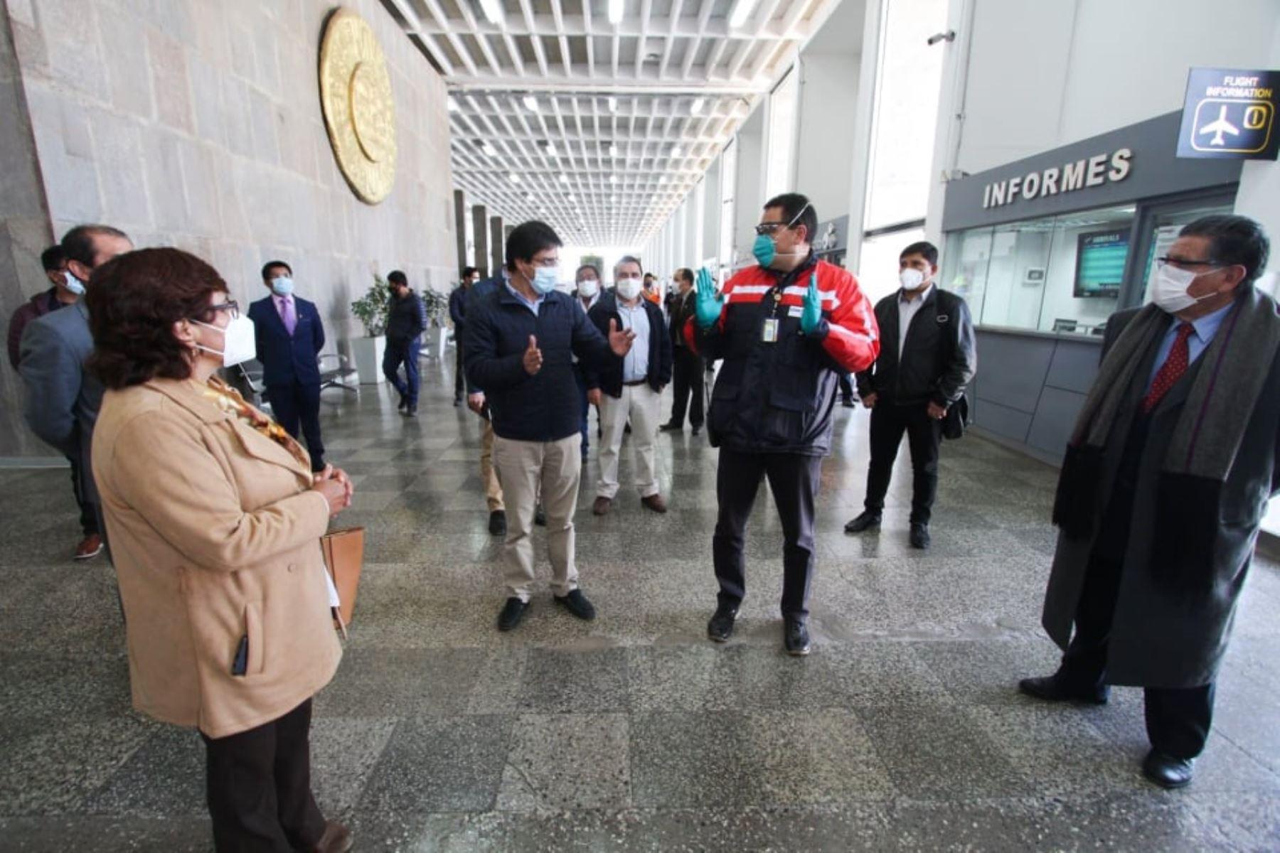 El aeropuerto de Cusco tiene listo protocolos de salud para recibir a pasajeros con reinicio de actividades aeroportuarias.