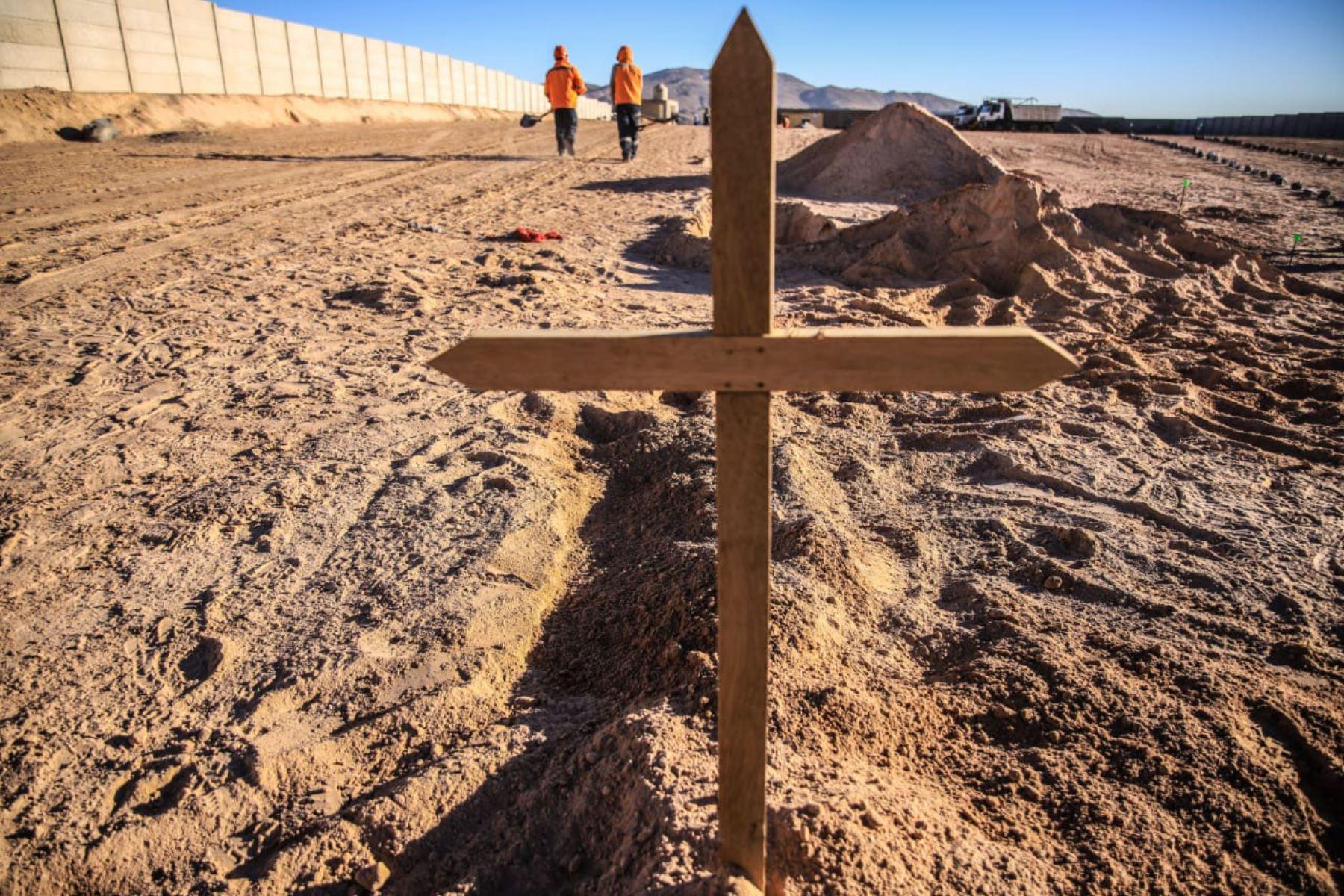 En la ciudad de Arequipa ya funciona el cementerio covid-19 habilitado por el gobierno regional. Foto: ANDINA/Difusión