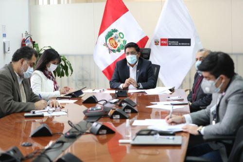 Coronavirus: El presidente del Consejo de Ministros lidera la reunión de instalación de la Comisión Multisectorial para acceder a producción, adquisición, donación y distribución de las vacunas contra el covid -19