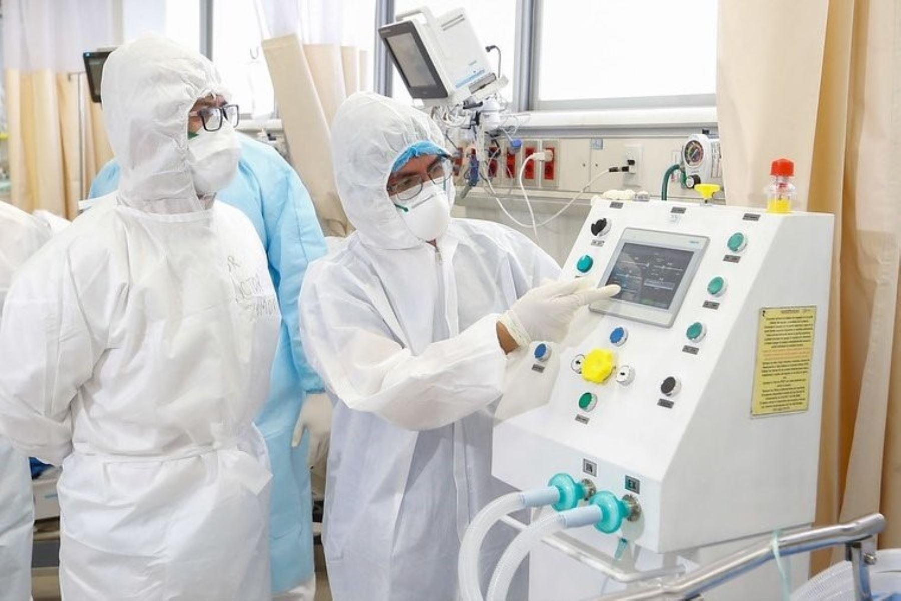 Ventilador mecánico para pacientes covid-19. ANDINA/Difusión