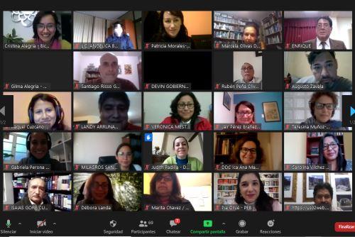 La disposición al trabajo conjunto e integrado fue el punto en común en cada participación, lo cual permitirá generar un espacio de diálogo que incluya cada vez a más peruanos en la conmemoración del Bicentenario de la independencia. Foto: ANDINA/Difusión