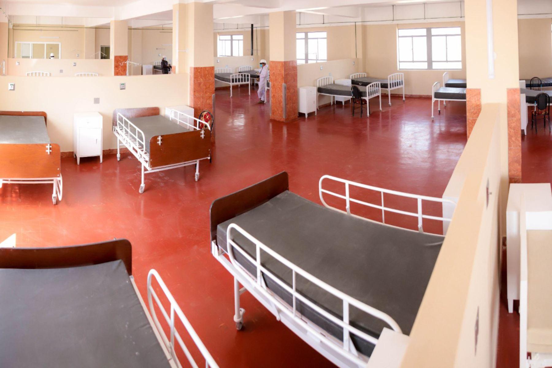 Otras 65 camas se habilitaron en el hospital covid-19 (Hospital Honorio Delgado) de la ciudad de Arequipa. Foto: ANDINA/Difusión