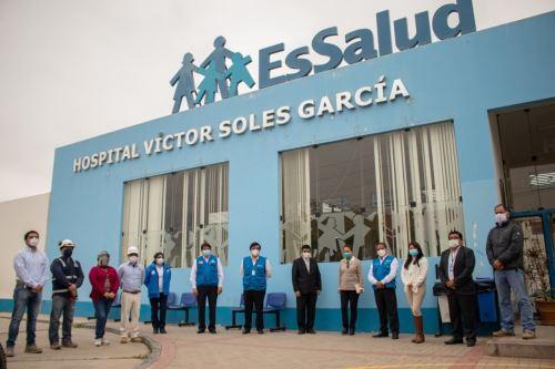 Instalarán 40 camas de hospitalización para pacientes covid-19 en el hospital Víctor Lores de Virú, región La Libertad.