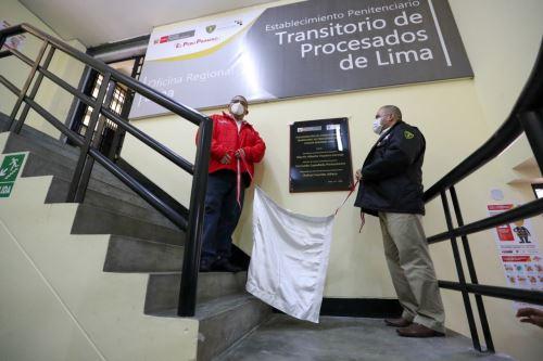 El ministro de Justicia y vicepresidente del INPE inauguran el Establecimiento Transitorio de Procesados de Lima en el E.P. Ancón II