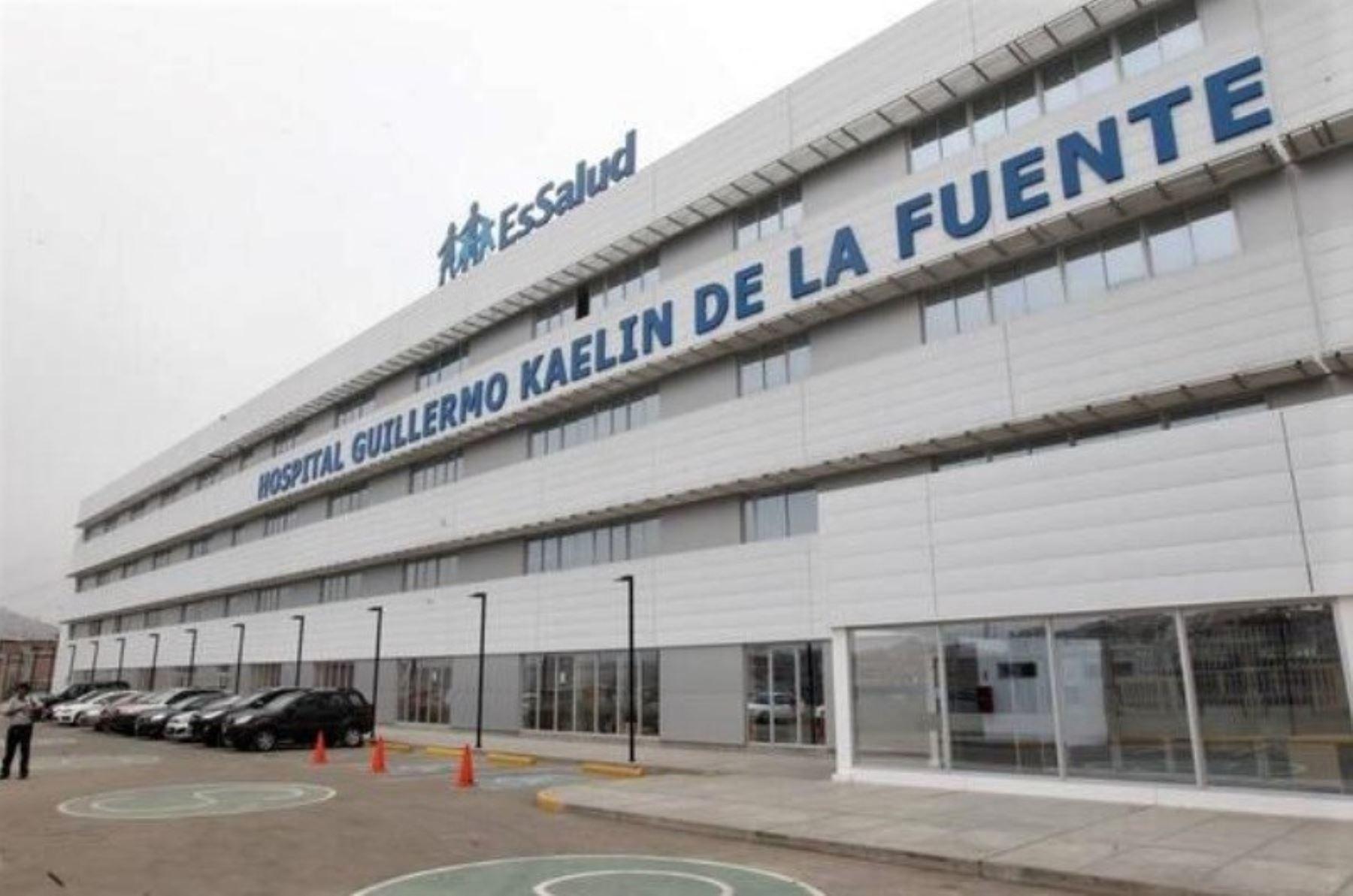Hospital Guillermo Kaelin de EsSalud, donde permanece internado el llamado