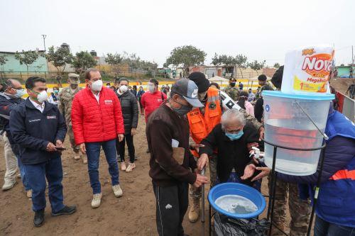 Coronavirus: Mindef supervisó acción civica en AAHH Villa Rica en lomo de Corvina