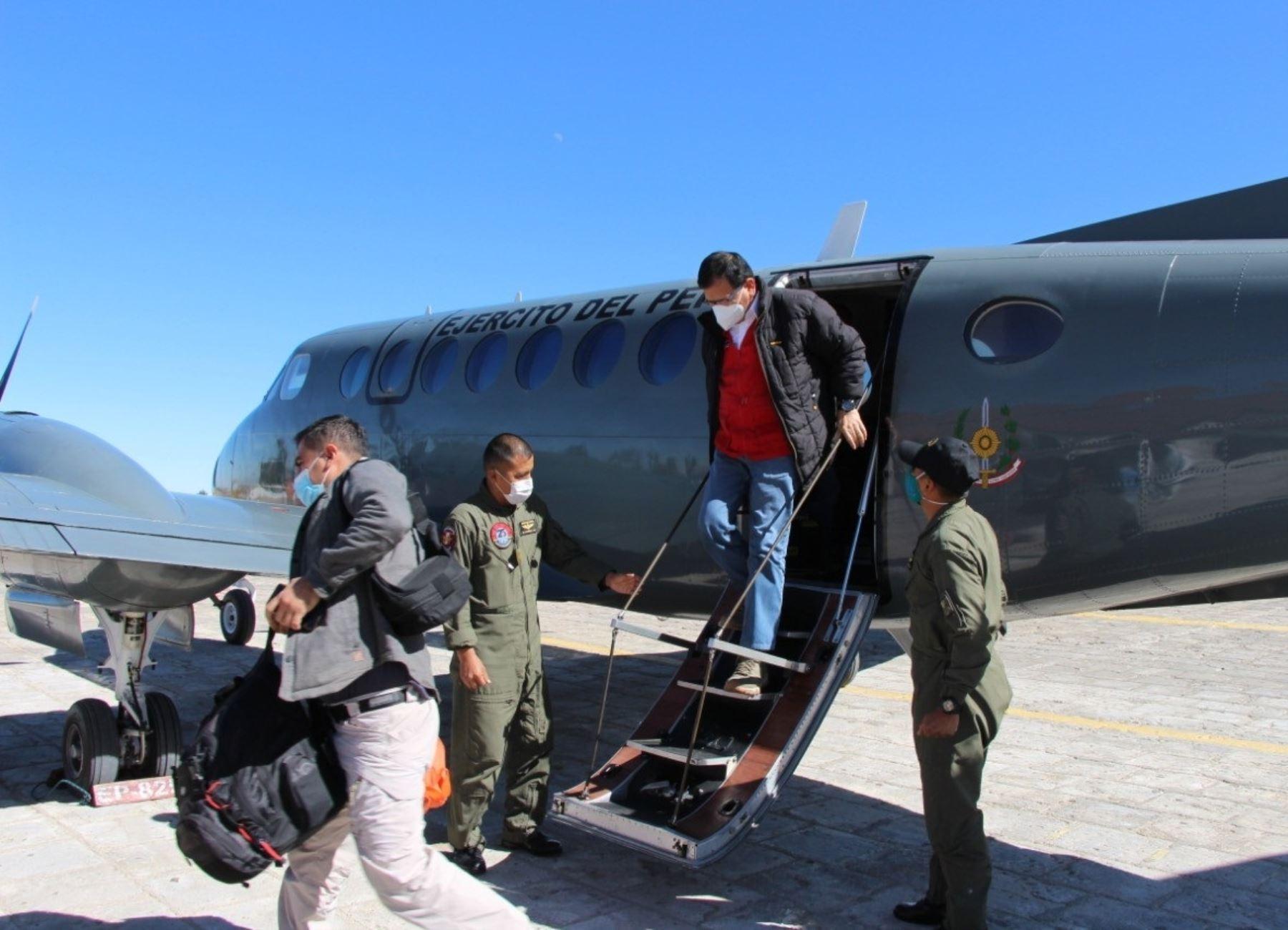 Minsa enviará mañana equipo a Arequipa para apoyar capacidad de respuesta de hospitales, anunció el ministro de Agricultura, Jorge Montenegro.
